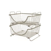 Rebrilliant Stackable Basket Tray; Satin Nickel