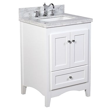 KBC Abbey 24'' Single Bathroom Vanity Set; White