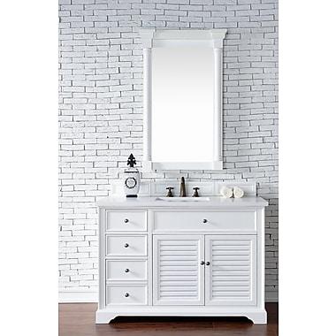 Darby Home Co Belfield 48'' Single Cottage White Wood Base Bathroom Vanity Set; 4cm