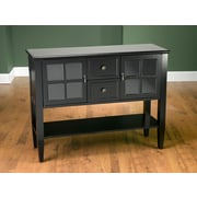 AA Importing 2 Door 2 Drawer Accent Cabinet; Black