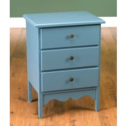 AA Importing 3 Drawer Accent Chest; Blue