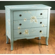 AA Importing Hand Painted 3 Drawer Accent Chest; Blue