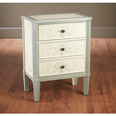 AA Importing Floral 3 Drawer Accent Chest