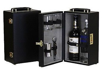Concession Express Portable 2 Bottle Leather Mini Bar WYF078279916530