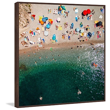 Marmont Hill 'Packed Beach' by Karolis Janulis Floater Framed Graphic Print on Canvas
