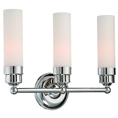 Langdon Mills Notting 3-Light Vanity Light; Brushed Nickel