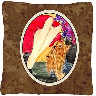 Caroline's Treasures Lady w/ Her Yorkie Indoor/Outdoor Throw Pillow
