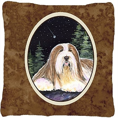 Caroline's Treasures Starry Night Bearded Collie Indoor/Outdoor Throw Pillow