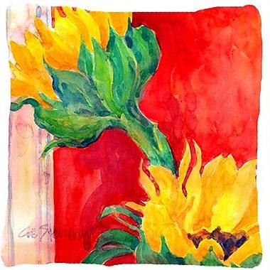 August Grove Landon Two Sunflower Indoor/Outdoor Throw Pillow