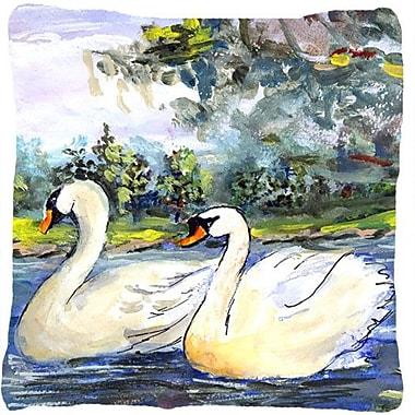 Caroline's Treasures Swan Indoor/Outdoor Throw Pillow