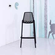 Container Plastic 29.5'' Bar Stool (Set of 4); Black