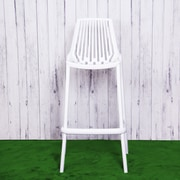 Container Plastic 29.5'' Bar Stool (Set of 4); White