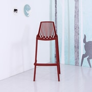 Container Plastic 29.5'' Bar Stool (Set of 4); Red