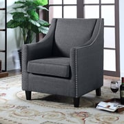 Container Upholstery Wingback Chair; Dark Gray