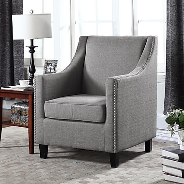 Container Upholstery Wingback Chair; Gray