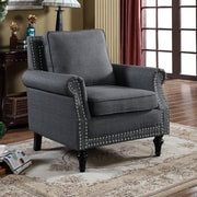 Container Upholstery Arm Chair; Dark Gray