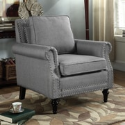 Container Upholstery Arm Chair; Gray