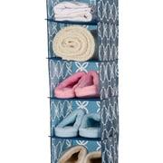 Glitzhome Hanging Closet Storage Organizer 12'' W Garment Rack; Navy Blue