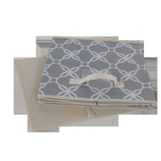 Glitzhome Oxford Fabric Box; Gray