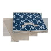 Glitzhome Oxford Fabric Box; Navy Blue