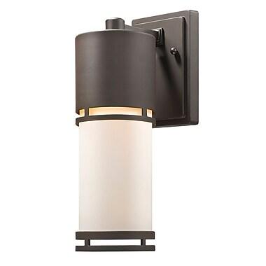 Z-Lite Luminata 1-Light Outdoor Sconce; Deep Bronze