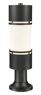 Z-Lite Luminata Outdoor 1-Light LED Pier Mount Light; Black