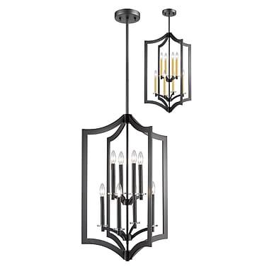 Z-Lite Zander 8-Light Foyer Pendant; Bronze