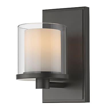Z-Lite Schema 1-Light LED Candle Sconce; Bronze