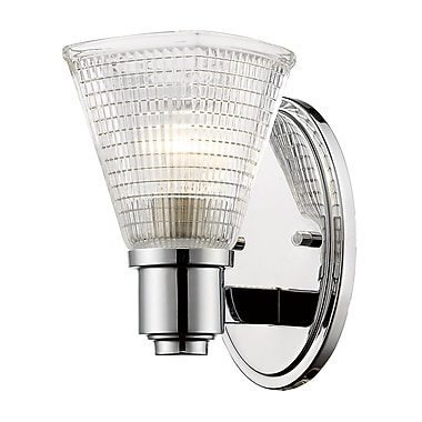 Z-Lite Intrepid 1-Light Armed Sconce; Chrome