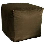 R&MIndustries Majestic Plush Cube Pouf Ottoman; Chocolate