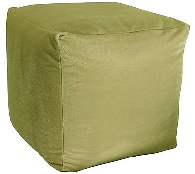 R&MIndustries Majestic Plush Cube Pouf Ottoman; Sage