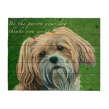 'Pallet Sign Adorable Puppy Sign w/ Quote' by Patricia Bourque Photographic Print on Wood