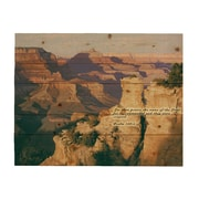 HadleyHouseCo 'Space and Time Grand Canyon' by Jay Moore Print of Painting on Wood; 11'' H x 14'' W