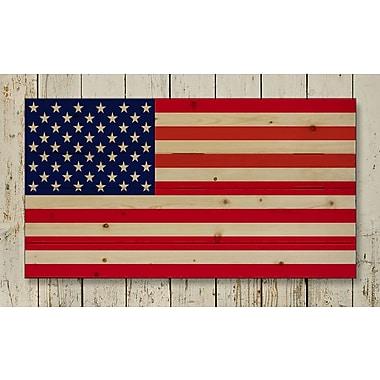 HadleyHouseCo 'American Flag Pallet' Photographic Print on Wood; 16'' H x 20'' W