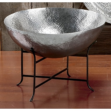 Kindwer 2 Piece Massive Hammered Aluminum Serving Bowl Set