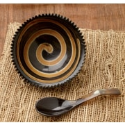 Kindwer 2 Piece Horn Swirl Serving Bowl Set
