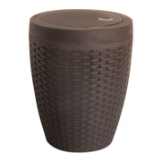 Superior Performance Plastic 1.63 Gallon Swing Top Trash Can; Brown