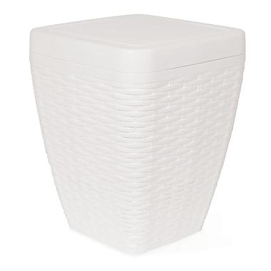 Superior Performance Plastic 1.63 Gallon Swing Top Trash Can; White