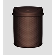 Superior Performance Plastic 5.5 Gallon Swing Top Trash Can; Brown