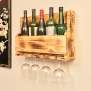 Pomegranate Solutions 5 Bottle Wall Mounted Wine Bottle Rack