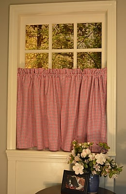 Curtain Chic Oak Bluffs Americana Tier Curtain; 24'' H x 60'' W