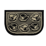 Structures Textured Loop Coffee Rush Wedge Slice Kitchen Area Rug