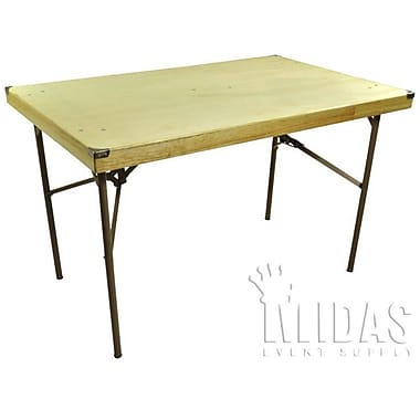 Midas Event Supply Rectangular Folding Table; 30'' x 48''