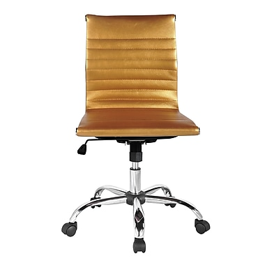 Winport Industries Mid-Back Desk Chair; Gold