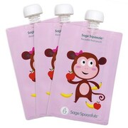 Sage Spoonfuls Sage Squeezie Monkey Reusable 3 Container Food Storage Set (Set of 3)