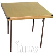 Midas Event Supply Square Folding Table; 34'' x 34''