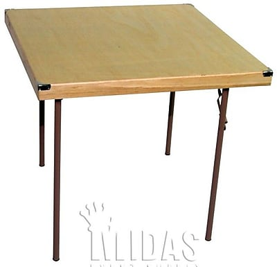Midas Event Supply Square Folding Table; 36'' x 36''