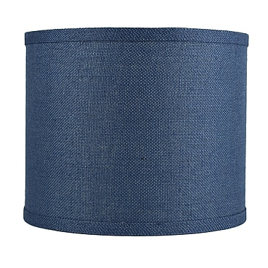 Urbanest Classic 12'' Burlap Drum Lamp Shade; Denim Blue