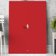 Mod Made 'Simply Red' Painting Print on Wrapped Canvas; 28'' H x 20'' W x 1.5'' D