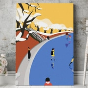 Mod Made 'Snowing Park' Graphic Art on Wrapped Canvas; 28'' H x 20'' W x 1.5'' D